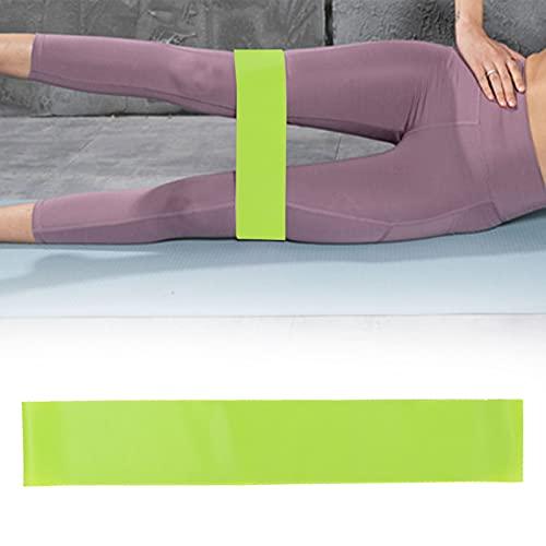 Nuobi Banda de Resistencia al Ejercicio, Banda elástica de Fitness Durable para Pilates para Sentadillas para Yoga(Green TPE-600 * 50 * 0.35mm)