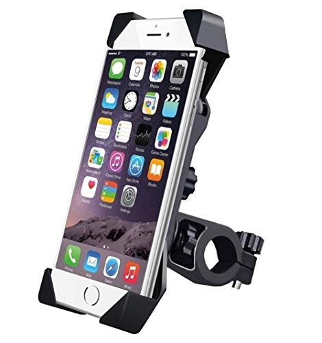 HUMBLE Universal 360 Degree Adjustable Mobile Phone Holder for Bicycle   Bike   Motorcycle   Ideal for Maps   Navigation   Charging - Black