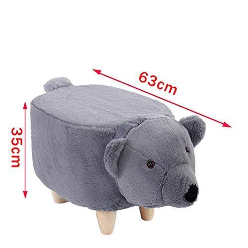 De dibujos animados de los niños Elephant Stool cambiar sus zapatos de la personalidad del sofá taburete de madera de heces de animales creativos del hogar de heces (color: B) Hslywan ( Color : D )