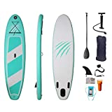 LHQ-HQ Tabla De Surf para Adultos, Tabla De Surf De Pie, Tabla De Surf Inflable, Tabla De Surf Plegable con Accesorios Y Bolsa De Almacenamiento Portátil