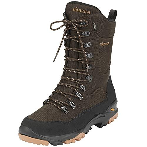 Härkila Botas de caza impermeables Mountain Hunter GTX – Botas de senderismo para la caza con membrana Gore-Tex – Botas de senderismo ligeras con suela Vibram, color Marrón, talla 44 EU