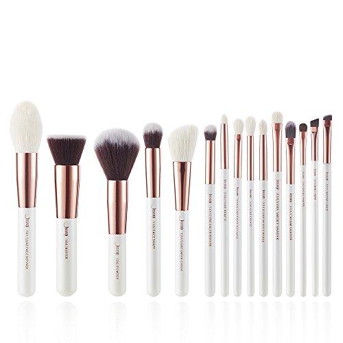 Jessup Set di 15 pennelli da trucco professionali per occhi, sopracciglia, labbra, ombretto, eyeliner e altri cosmetici, T220