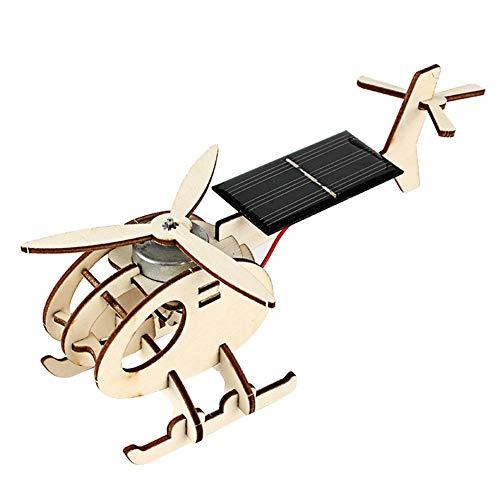 Monteren Zonne-energie Aangedreven Vliegtuigen Zonne-energie Vliegtuig Speelgoed 3D Houten Puzzel Bouwpakket 3D Houten Helikopter Vliegtuigen Woodcraft Speelgoed