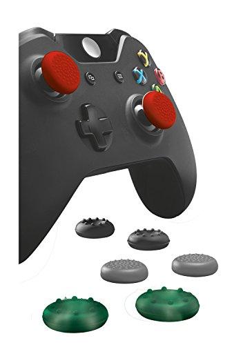 Trust GXT 264 Kit de 8 Appui-pouces pour Manette Xbox One - Noir/Rouge/Vert/Gris