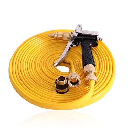 Juego de pistola pulverizadora de alta presión, con boquilla de latón de aleación de zinc resistente y manguera de TPE, para riego de plantas, limpieza, lavado de coche y ducha de mascotas (32.8 pies)