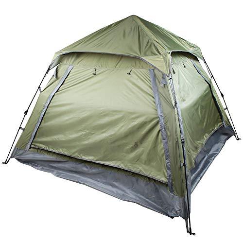 Tihebeyan Gezinstent voor 3 tot 4 personen, vierkanten, mesh, anti-insecten, waterdicht, zonwering, strand, reizen, rugzak, tent, frame, tent in de buitenlucht