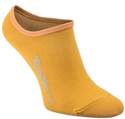 Rainbow Socks - Damen Herren - Bunte Füßlinge Unsichtbare Socken - 1 Pair - Gelb - Größen 39-41