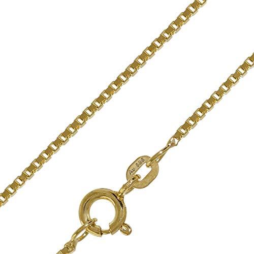trendor Halskette für Damen und Herren 585 Gold (14 K) Venezianer Kette 50927-50 50 cm