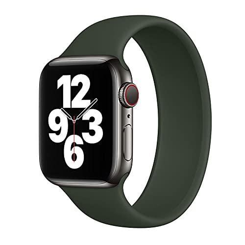 DYKL Solo Loop Compatible con Apple Watch Band 38 40 42 44 mm Correa Deportiva Compatible para iWatch Series 6, 5, 4, 3, 2, 1 SE(42/44 Case # 8, Verde)