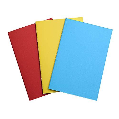 A5 Notizbuch Einlagen - Punktiertes Papier - 3er Set bunt - Notizbuch Einlageblätter für Reisetagebuch, Tagebücher oder Planer - 21 x 14 cm, 3 x 80 Seiten