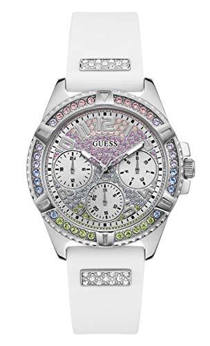 GUESS Armbanduhren Damen Analog Japanisches Quarzwerk Silikonband GW0045L1