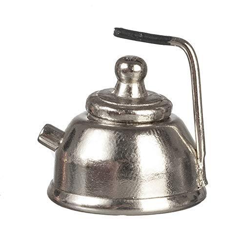 Melody Jane Puppenhaus Chrom Wasserkocher Metall Küche Zubehör 1:12 Maßstab