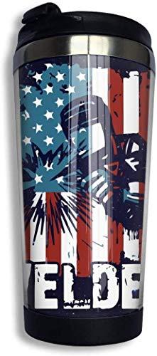 Schweißer American Flag Grunge Epilepsie Awareness Day Kaffeetasse mit Deckel Perfekt für Tee & Kaffee Reise Kaffeetasse für Büro zu Ha