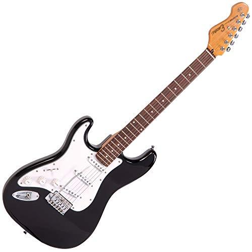 Encore LH-E6BLK E6 hoogglans blaster linkshandigen elektrische gitaar zwart