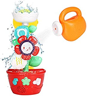 JVSISM Flower Bath Toys Bathtub Toys for Toddlers Babies Girls Boys Gifts with 1 Sprinklers and Strong Suction Cups Gifts