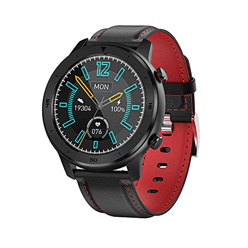 Smart Watch Full Touch High-Definition Large Screen IP68 Waterproof Swimming Dust Heart Rate Blood Pressure Monitoring Bracelet-Red