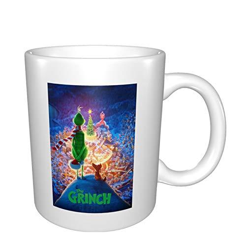 Grinch Keramiktasse Porzellan Tassen mit Griffen für Kaffee Tee Kakao für Zuhause Küche