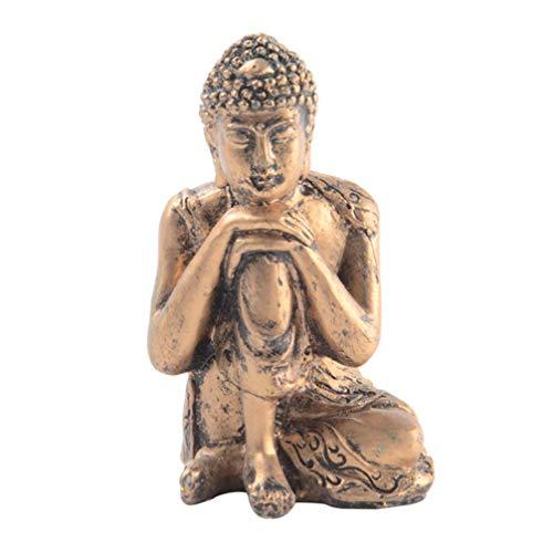 VOSAREA Durmiendo Estatua de Buda Estatuilla Buda Escultura Hogar Meditación Regalo Decoraciones de Mesa (Cobre Retro)