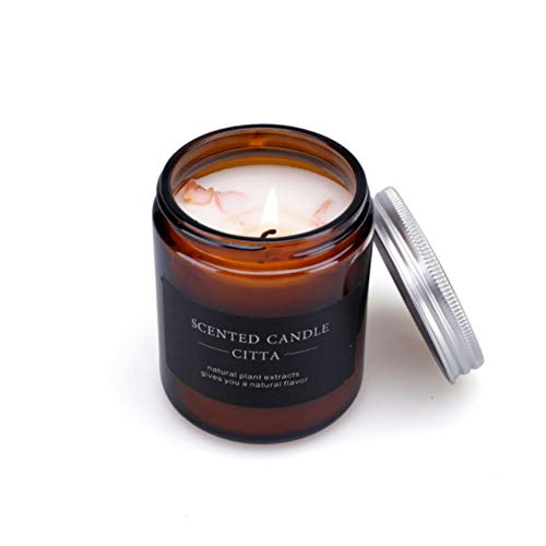 BTEX Healthy Classic Aromatherapy Candle European Cylindrical Smokeless Scented Candle Wedding Decoration Wax Fragrance Candle-A1-