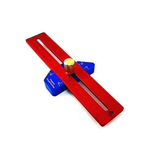 QPLKL Zimmerarbeiten Holzverarbeitung 45/90 Grad Winkel Scriber Lineal Loch Lineal Aluminiumlegierung T-förmigen Marke Lineal Messlineal Werkzeug zur Holz (Color : 200mm)