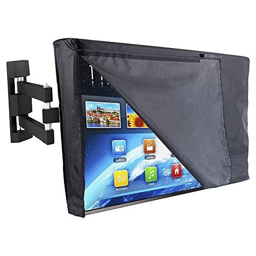"""Meijunter Outdoor TV Cover 60""""-65"""" - Flat Screen TV Universal Protector Case Waterproof Dustproof Front Flap Bottom All Inclusive 600D (Black Transparent)"""