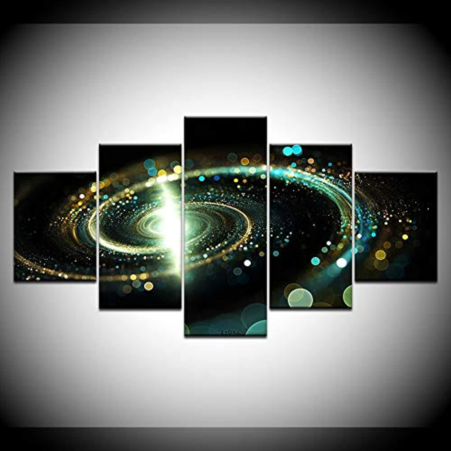 Home Decoration Wall Art Picture Modern 5 Panel Starry Sky Map for Living Room HD Printed Painting On Canvas Posters Frame