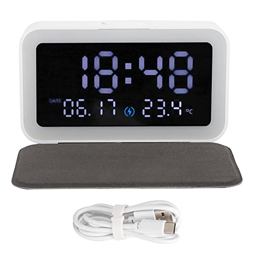 Eosnow Reloj electrónico, luz Nocturna de adaptación Inteligente Estable con Pantalla LCD para iOS para Sistemas Android