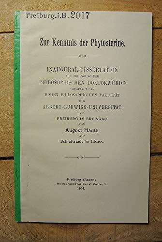 Zur Kenntnis der Phytosterine.