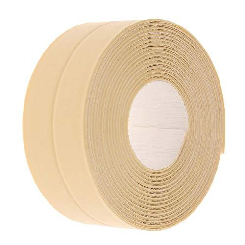 Ahomi Selbstklebende wasserdichte Gummidichtung Aufkleber Küche Streifenband (gelb)