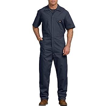Dickies Men s Short Sleeve Coverall Dark Navy Large Short