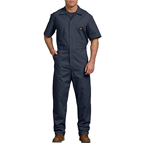 Dickies Men's Short Sleeve Coverall, Dark Navy, Large Regular
