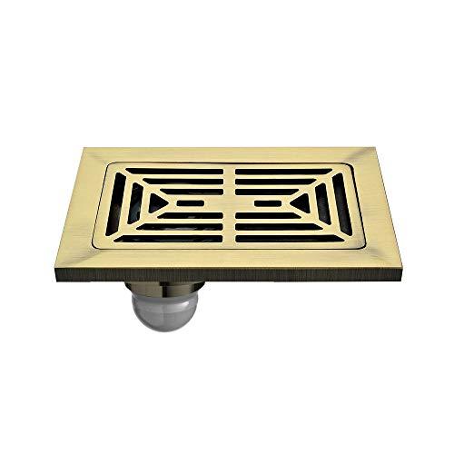 TBBCDPSKY Alle Copper Bodenablauf verdickte Platz Tile Insert Druckentwässerung 3D-Filterkorb Anti-Blocking-Balkon Badezimmer Pack (Color : Bronze)