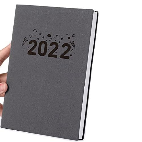 FOLA 2021-2022 Planner A5 Agenda Agenda 365 Giorni Organizzatore Autodisciplina Notebook da luglio 2021 a Giugno 2022 Spessore Cortaccia Carta (Color : Grey, Dimensione : A5)