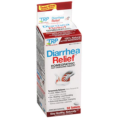 The Relief Products Diarrhea Relief Fast-Dissolving Tablets, 50 Count