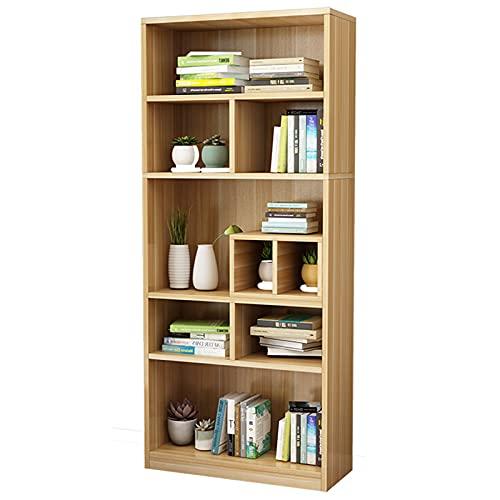 Librería de 5 niveles Estantes de exhibición de almacenamiento abiertos de estilo industrial Estantería organizador de suelo Muebles para el hogar para oficina, sala de estar, dormitorio, cocina