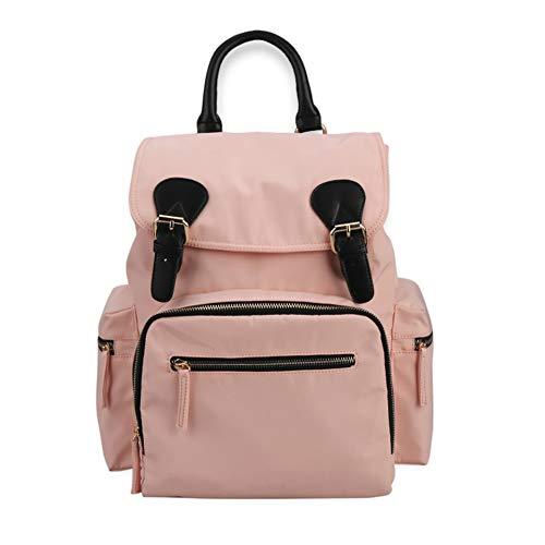Yao rack Sac de Remplacement pour bébé Grande capacité Sac à Langer imperméable Confortable Multi-Function Mode Casual Maman Out Travel Backpack,Pink