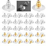 Earring Backs, 300pcs Bullet Clutch Earring Backs Replacements Hypo-Allergenic Rubber Earring stoppers (Silver and Gold)