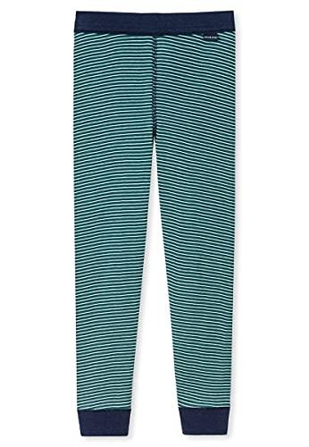 Schiesser Jungen Lange Unterhose Unterwäsche, grün, 140