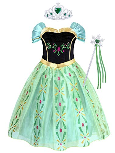 AmzBarley Niña Princesa Disfraz Traje Fiesta de Cosplay Vestido (Girls Princess Fancy Dress) Carnaval Cosplay Halloween Fancy Dress Up Costume