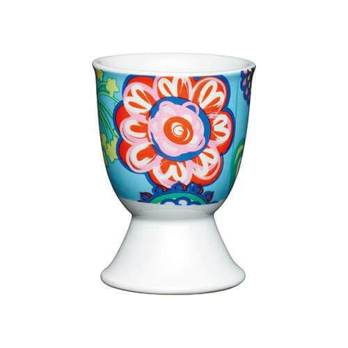 Kitchen Craft Eierbecher aus Porzellan, Blumenmuster