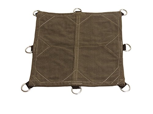 8x10 18oz Heavy Duty Canvas Tarp with D-Rings - Water, Mold, and Mildew Resistant (8x10)