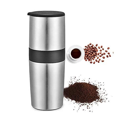 LIUHUI All-in-One-manuelle Kaffeemühle, Kaffeemaschinen-Brauerfilter mit verstellbarem konischen Keramikgrat für die Reisebecher, einstellbare manuelle Kaffeemühle