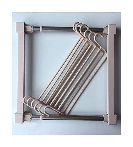 Porta Pantaloni Sistema dell'armadio dell'armadio espandibile 2 Lunghezza della barra Pantaloni telescopici Pantaloni Hanger Glassaggio Organizzatore di stoccaggio regolabile Scaffale for serbatoio