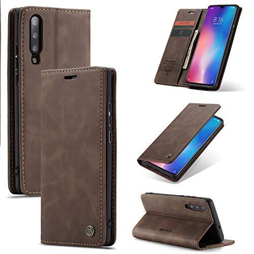 Anpassung Parts Der vertikale Handy Fall der for Xiaomi Mi 9 automatische Aufnahme retro Geschäftslederbrieftasche Mode Brieftasche.2-Kartensteckplätze und eine Brieftasche, anti-dünner fallenden Hand
