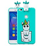 LAXIN Cute 3D Unicorn Case for Huawei P8 Lite (2017),Ultra Slim Fit Soft Silicone Gel Bumper...