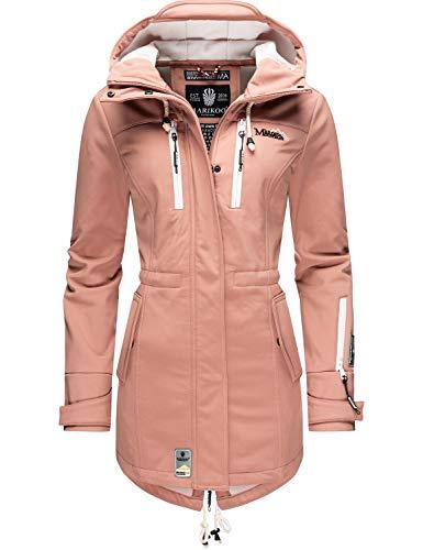 MARIKOO Damen Softshell-Jacke Outdoorjacke Zimtzicke Terracotta Gr. XL