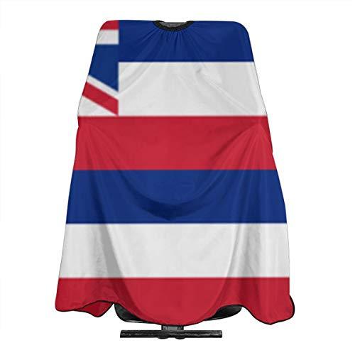 Hawaii-Staat-Flagge, professioneller Haarschneideumhang, Nylon, Friseurumhang, wasserdicht, mit Schnappverschluss, 139,7 x 167,6 cm