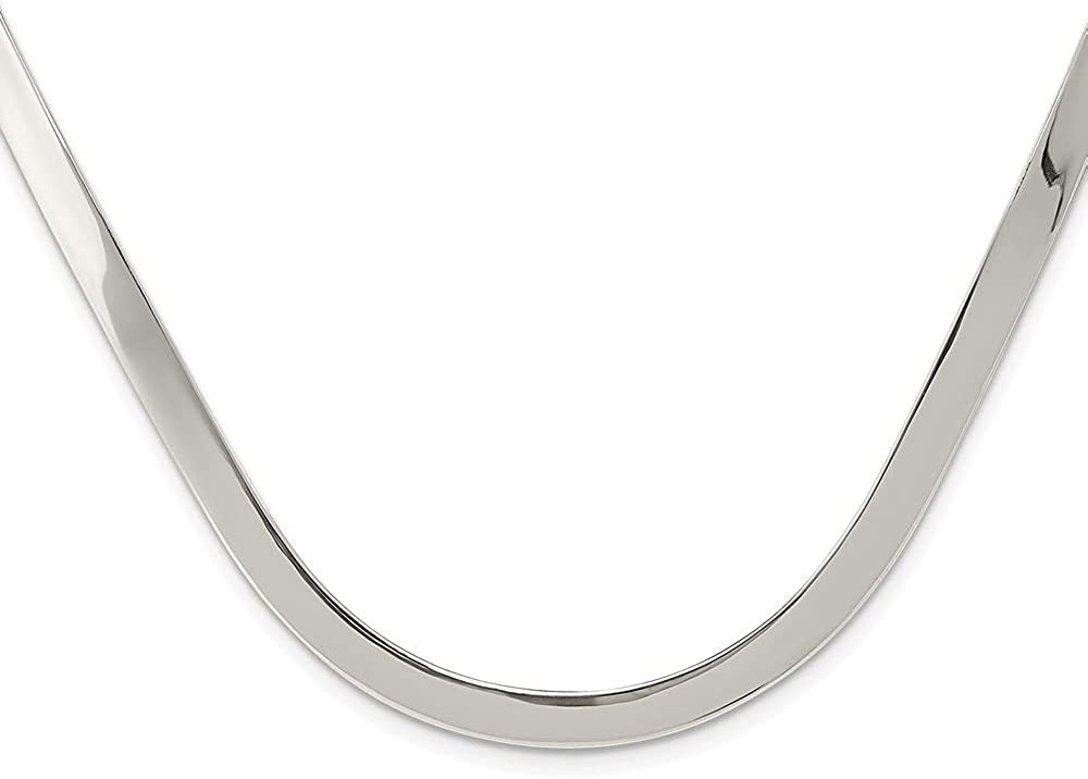 Diamond2Deal 925 Max 60% Bombing new work OFF Sterling Silver 5mm for Women Polished Necklace