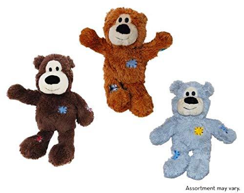 Kong Wild Knots Hundespielzeug, Bär, Größe M/L,, 3 Stück