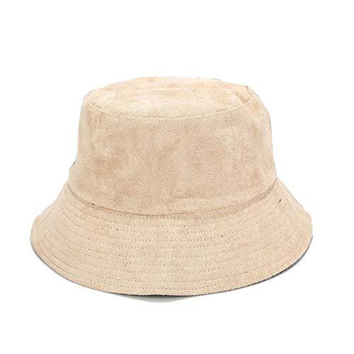wdonddonmzi De ala Ancha de Cubo Sombreros, Mujeres de los Hombres del Color sólido de Doble Cara, Que Lleva el Sombrero Unisex Sunhats al Aire Libre (Color : D)